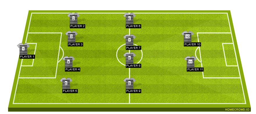 Football formation line-up sheep  4-4-2