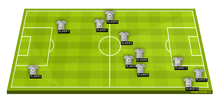 Football formation line-up PSG  4-4-1-1